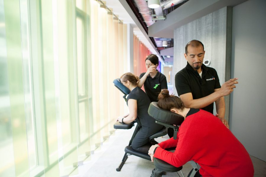 Onsite Chair Massage and Employee Incentive Programmes